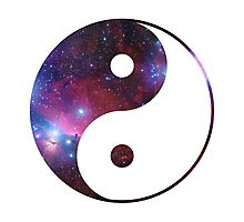 Ying and yang galaxy Photographic Print