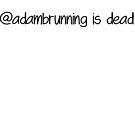 @adambrunning is dead by awbrunning