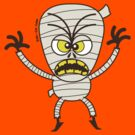 Scary Halloween Mummy Emoticon by Zoo-co
