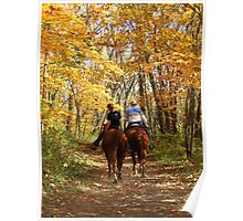 Autumn Horse Ride Poster