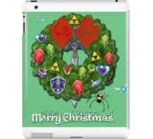 Zelda Christmas Card: Zelda themed Wreath iPad Case/Skin