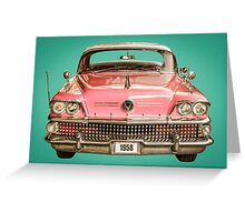 Classic Buick 1958 Century Car Greeting Card