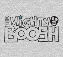 The Mighty Boosh – Black Stencilled Writing & Mask by PonchTheOwl