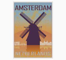 Amsterdam vintage poster Kids Clothes