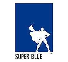 My Superhero 03 Super Blue Minimal poster Photographic Print