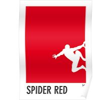 My Superhero 04 Spider Red Minimal poster Poster