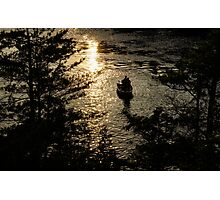Fishing at Sunset - Thousand Islands, Saint Lawrence River Photographic Print