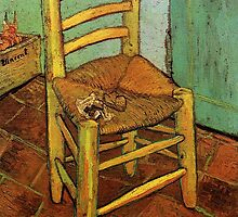 Vincent's Chair with His Pipe by Vincent van Gogh.  by naturematters