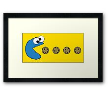 Cookie Monster Pacman Framed Print