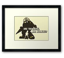 Bioshock: Are you there, Mr. Bubbles? Framed Print