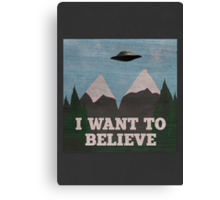 X-Files Twin Peaks mashup Canvas Print