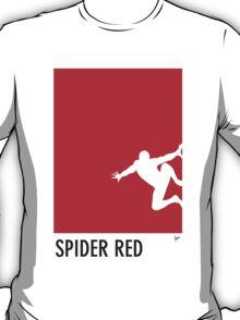 My Superhero 04 Spider Red Minimal poster T-Shirt