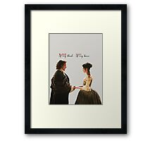 """Outlander - Jamie x Claire """"Blood of my blood..."""" Framed Print"""