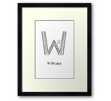 W is for Wombat Framed Print