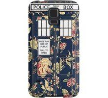 Floral TARDIS Samsung Galaxy Case/Skin