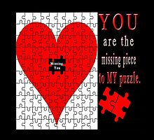 YOU ARE THE MISSING PIECE TO MY PUZZLE MISSING U PILLOW AND OR TOTE BAG by ✿✿ Bonita ✿✿ ђєℓℓσ