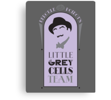 Poirot's Little Grey Cells Team Canvas Print
