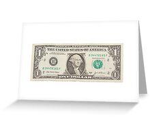 American One Dollar Bill Greeting Card