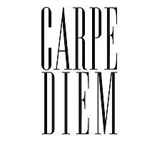 Carpe Diem Black Photographic Print
