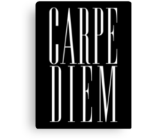 Carpe Diem White Canvas Print