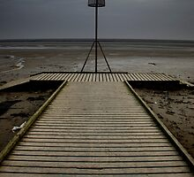 Lytham seafront at dusk by TheRetroJunkie
