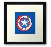 Captain America Shield Paint Splatter Design Framed Print