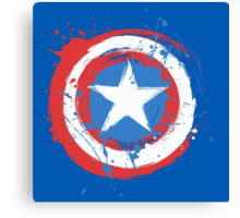Captain America Shield Paint Splatter Design Canvas Print