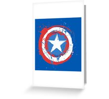 Captain America Shield Paint Splatter Design Greeting Card