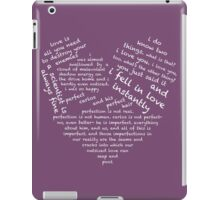 Quotes of the Heart - Cecilos (White) iPad Case/Skin