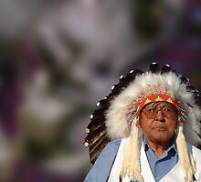 Portrait of a Cheyenne Chief by Wayne King