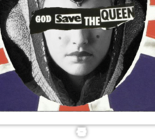 GOD SAVE THE QUEEN AMIDALA Sticker