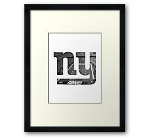 New York Giants Stadium Black and White Framed Print