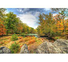 Autumn At The Creek - Green Lane - Pennsylvania - USA Photographic Print