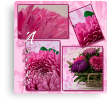 Aster Photo Collage Canvas Print