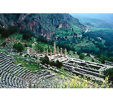 Temple of Apollo and Theatre, Delphi 1960 Photographic Print