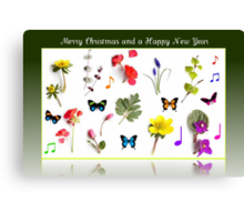 A Christmas Card for the Southern Hemisphere Canvas Print