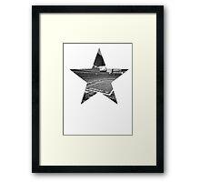 Dallas Cowboys Stadium Black and White Framed Print