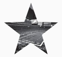 Dallas Cowboys Stadium Black and White by Josh Eisenmann