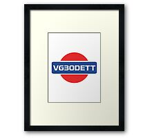VG30DETT Nissan Engine Framed Print