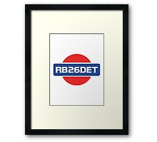 RB26DET Nissan Engine Framed Print