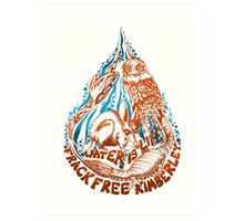 water is life - frack free kimberley Art Print