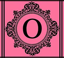 Hot Pink and Black Monogram O by Greenbaby