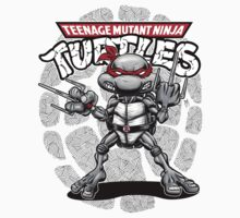 Raphael Black & White TMNT by webninja