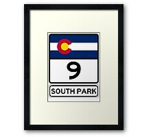 CO-9 SOUTH PARK Framed Print
