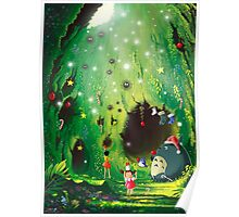 Totoro Christmas Card Poster