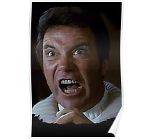 William Shatner Captain Kirk / Khan digital painting Poster