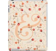 Floral Ampersand iPad Case/Skin