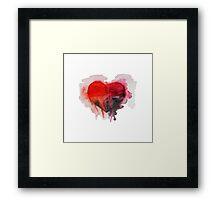 Watercolor heart Framed Print