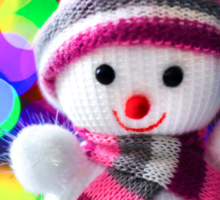 Snowman Toy Sticker