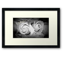 ROSES IN BLACK AND WHITE - TO THE ONE I LOVE! Framed Print